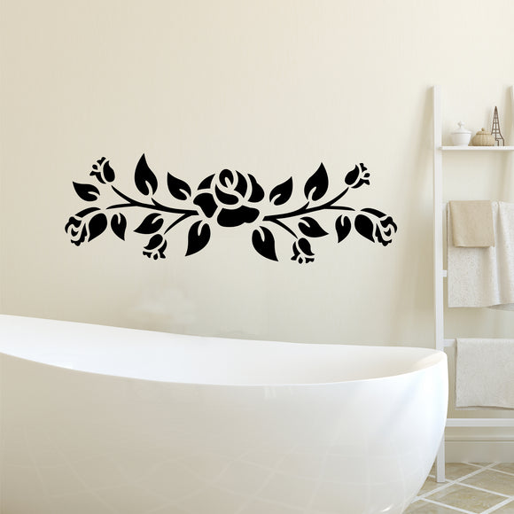 Decorative Roses and Vine Swag wall decal