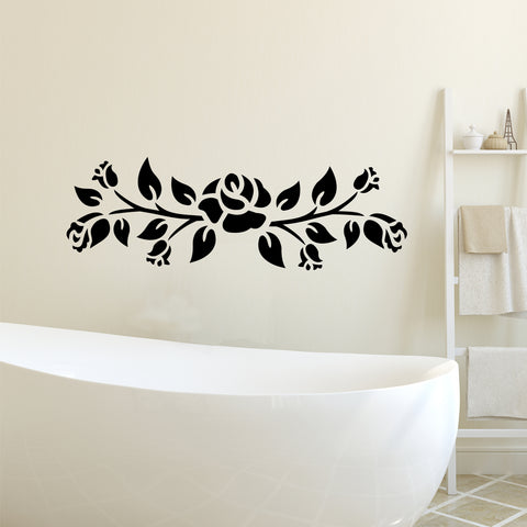 Decorative Rose Vine Decal | Vinyl Wall Decals | Vinyl Flower Sticker