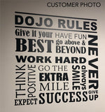 Motivational Office Rules Wall Decal Word Collage