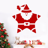 Santa Star Christmas Decal | Holiday Vinyl Decal | Wall Lettering