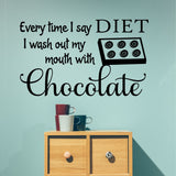 Wall Decal Wash out Mouth with Chocolate