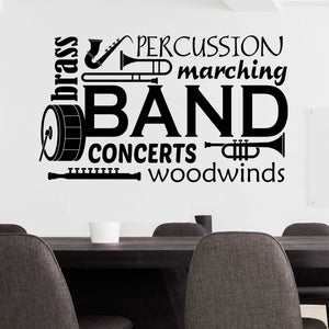 school band word collage decal