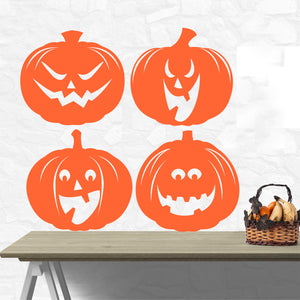 Wall Decal Halloween Jack o Lantern Pumpkins