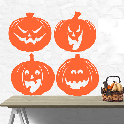Halloween Jack o Lantern Decals | Holiday Decoration | Pumpkins