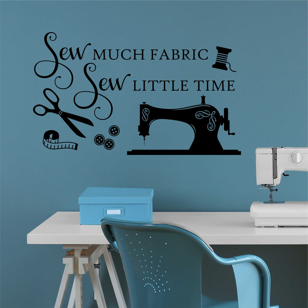 sew much fabric wall decal