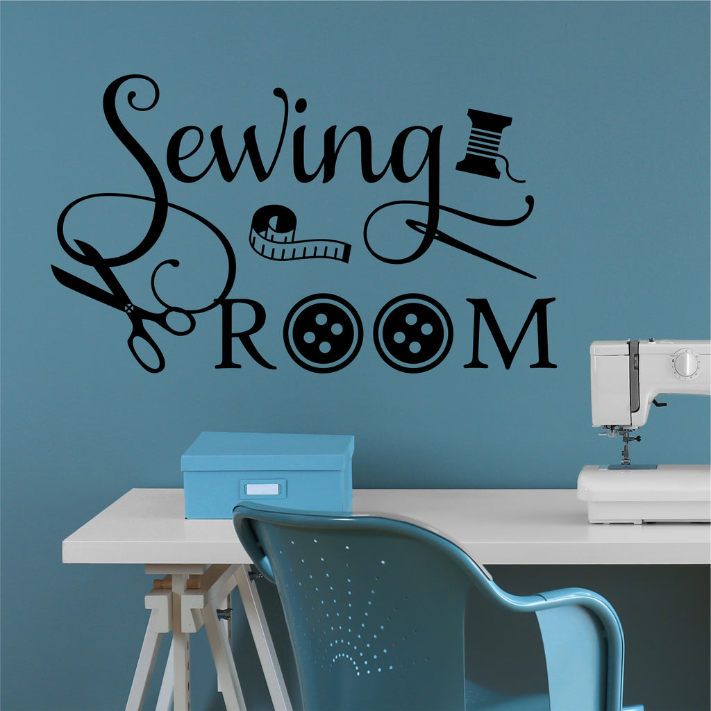 sewing room vinyl wall decal
