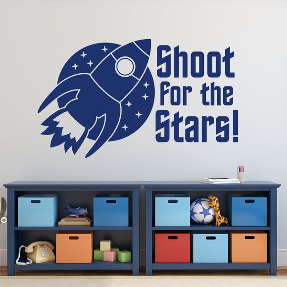 Wall Decal Shoot For Stars Spaceship