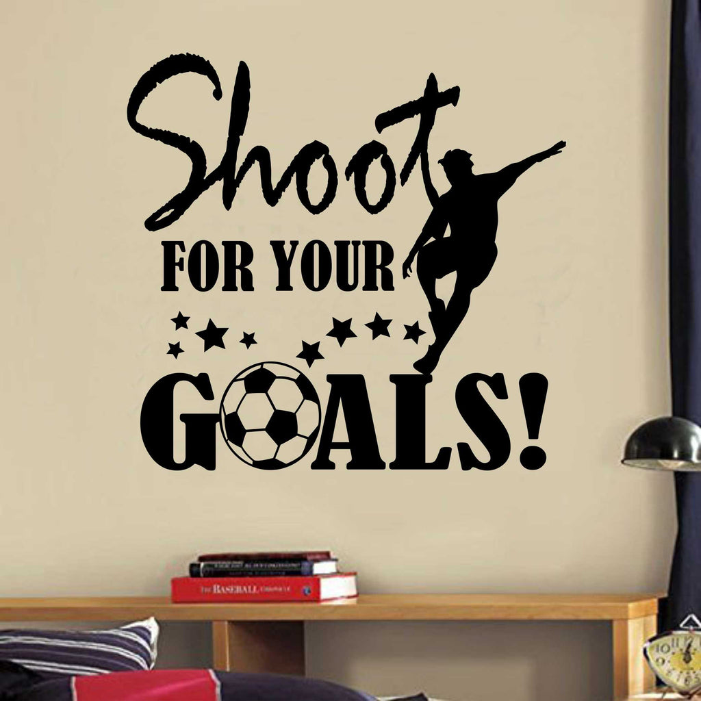 Soccer Ball Shoot for Goals | Vinyl Wall Lettering | Sports Decal