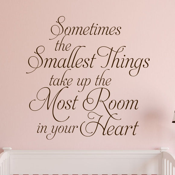 Wall Decal The Smallest Things