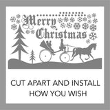Holiday Wall Decal Christmas Snowy Snow Scene Window Kit