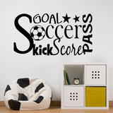 Wall Decal Soccer Word Collage