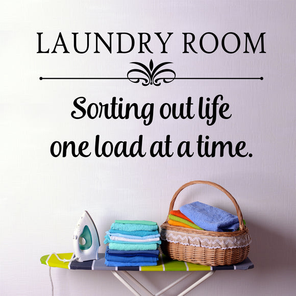 Laundry Room Wall Decal Sorting Out Life Farmhouse Vinyl Lettering
