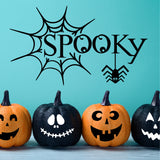 Spooky Spider Web | Halloween Vinyl Decal | Holiday Decor