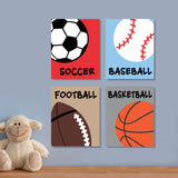 nursery sports balls canvas paintings
