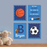 sports theme nursery canvas art