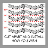 Music Wall Decal Musical Staff Accent Border 16 Foot