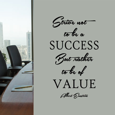 Be of Value Einstein Quote | Vinyl Wall Lettering | Motivate Employees Decal