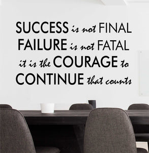 Wall Decal Success Failure Courage