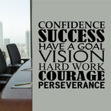 Success Word Collage | Vinyl Office Decal | Wall Lettering