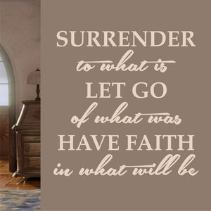Wall Decal Surrender Let Go