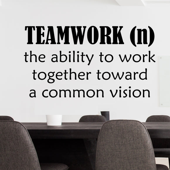 Wall Decal Teamwork Ability to Work Together