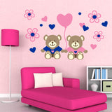 Nursery Wall Decal Teddy Bear Love Balloon Vinyl Mural Kit