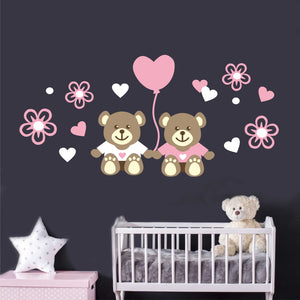 Wall Decal Teddy Bear Love Balloon