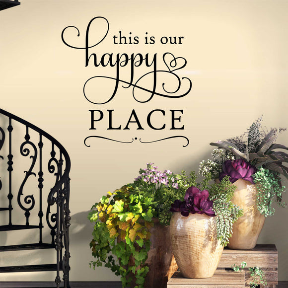our happy place wall decal