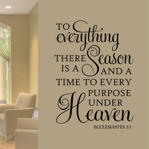 To Everything a Season wall decal