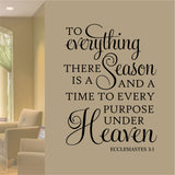 Purpose under Heaven Quote | Vinyl Wall Lettering | Religious Decal