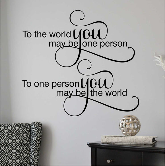 Wall Decal To one Person