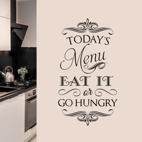 Wall Decal Today's Menu Eat