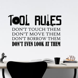 Wall Decal Tool Rules