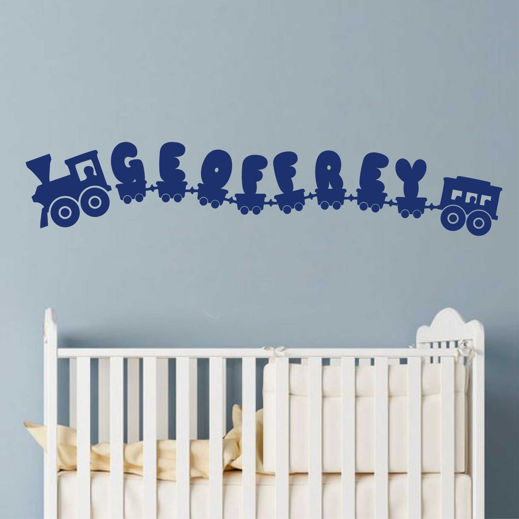 Nursery Train Name Kit | Vinyl Wall Lettering | Wall Decal