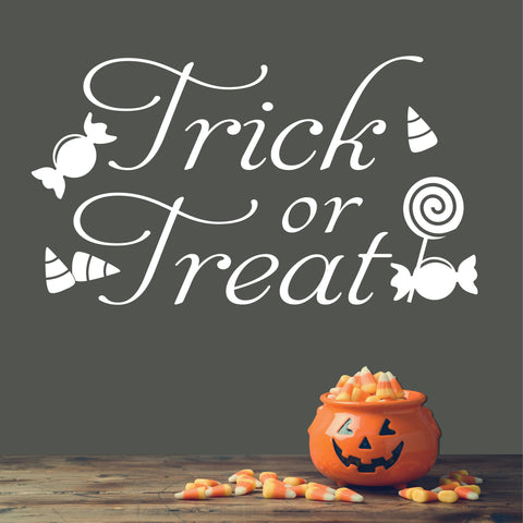 Trick Treat Candy | Halloween Vinyl Decals | Wall Quotes