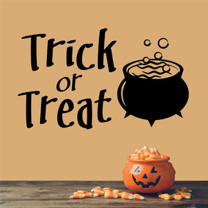 Wall Decal Trick or Treat Halloween Cauldron