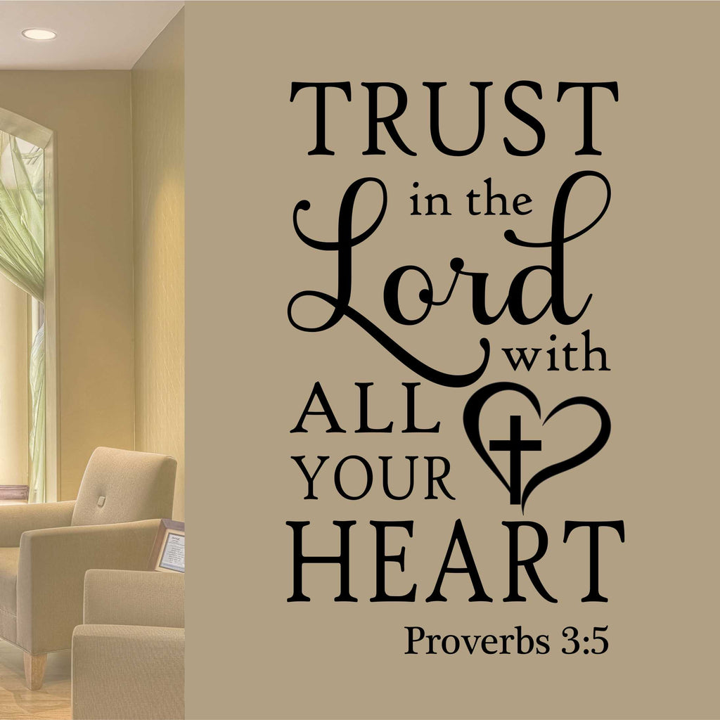 Religious Trust in the Lord | Wall Quotes | Vinyl Wall Lettering