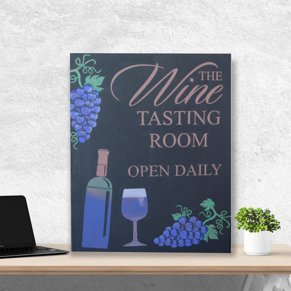 hand painted wine tasting room canvas