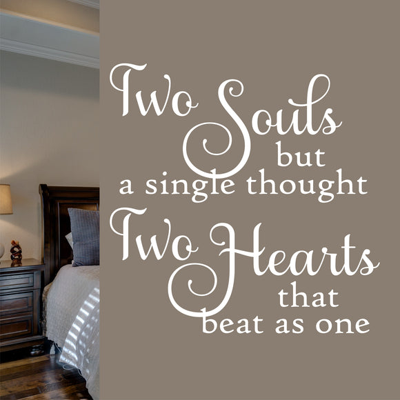 Wall Decal Two Souls Two Hearts