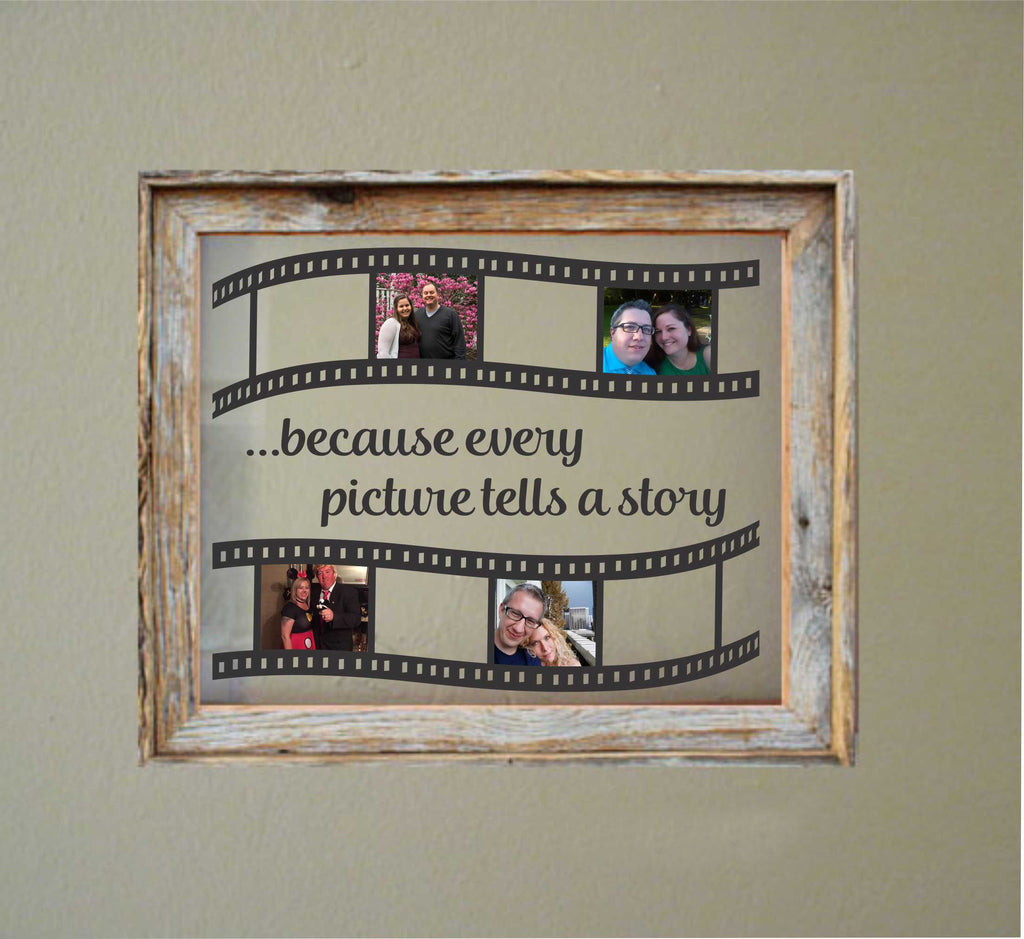 Pictures Tell Story Decal | DIY Floating Frame | Vinyl Photo Display