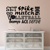 Volleyball Word Collage | Sports Decal | Vinyl Wall Lettering