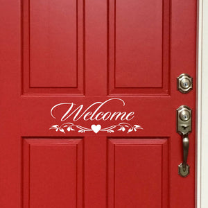 Door Decal Welcome Sign