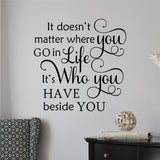 who beside you wall decal