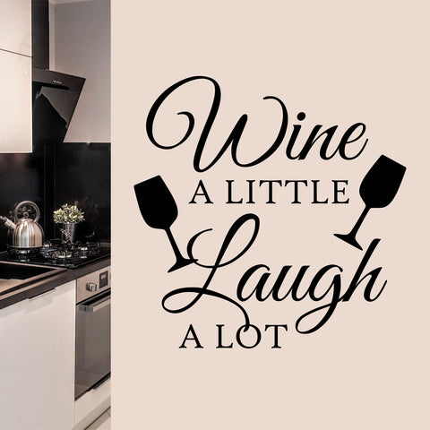 Laugh a Lot Vinyl Wall Lettering | Wall Quote | Vinyl Decals