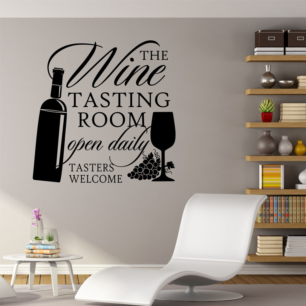tasting room wall decor