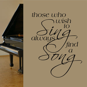 Wall Decal Wish to Sing Find a Song
