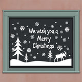 Wall Decal Christmas Snowy Snow Scene Reindeer