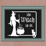 The Witch Is In Cauldron | Halloween Vinyl Decals | Holiday Decor