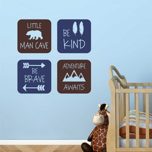 woodland theme nursery decals