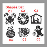 Holiday Decal Assorted Christmas DIY Luminaries Glass Block Stickers